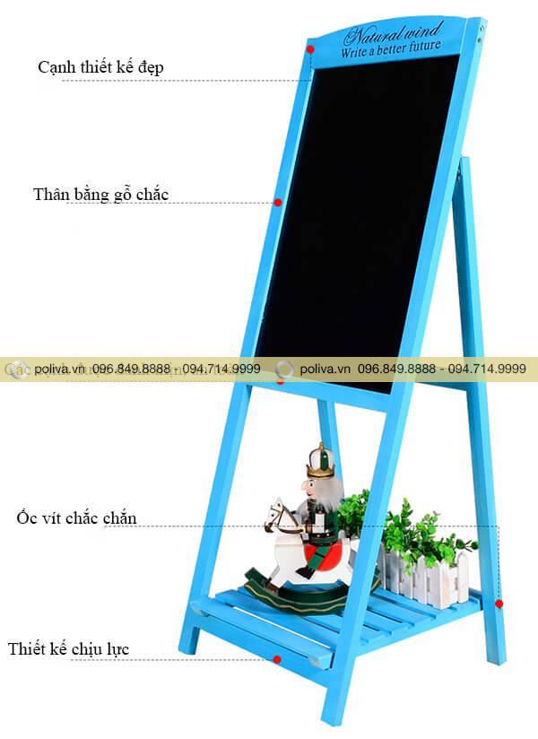 Mô tả cấu tạo chi tiết bảng menu bằng gỗ