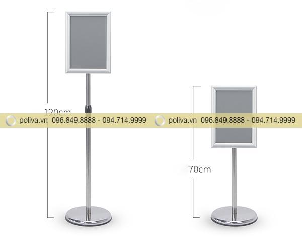 Thiết kế bảng quảng cáo dài hoặc thu ngắn lại phù hợp với mục đích sử dụng