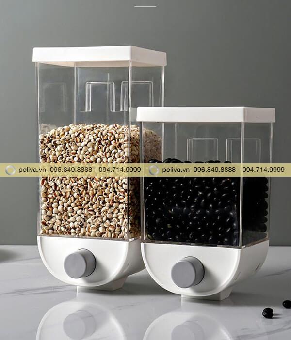 Bình đựng ngũ cốc nhựa