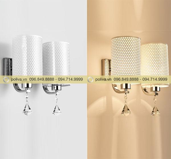 So sánh ánh sáng khi đèn đôi đang bật và khi đèn tắt