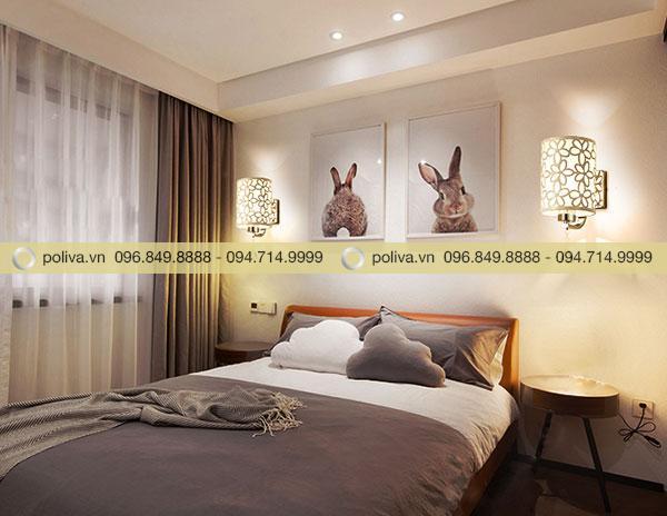 Đèn ngủ treo tường thường được gắn chắc chắn 2 bên đầu giường