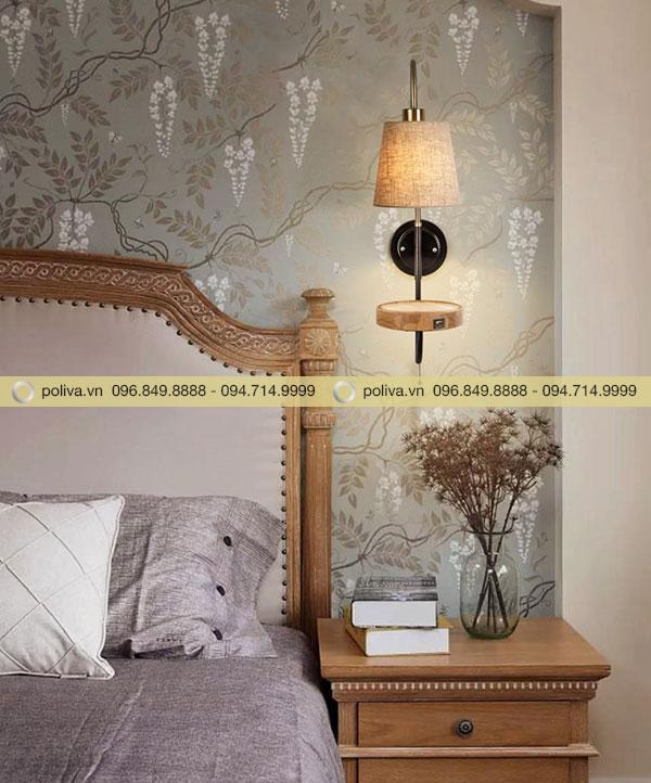 Gắn đèn phía trên đầu giường tiện dụng