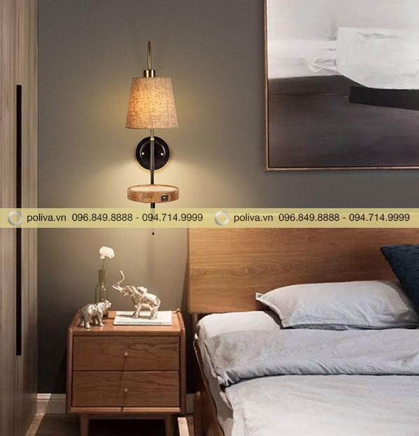Đèn ngủ hình nón chụp thích hợp với những người hay đọc sách báo ban đêm