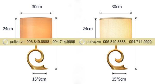 Kích thước đèn ngủ để bàn đèn chụp hình trụ đứng
