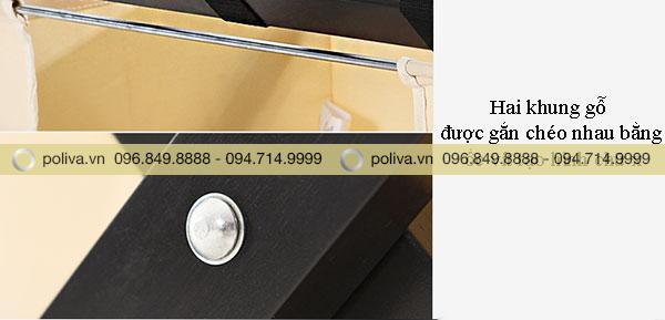 Hai khung gỗ găn chéo nhau bằng ốc vít chắc chắn