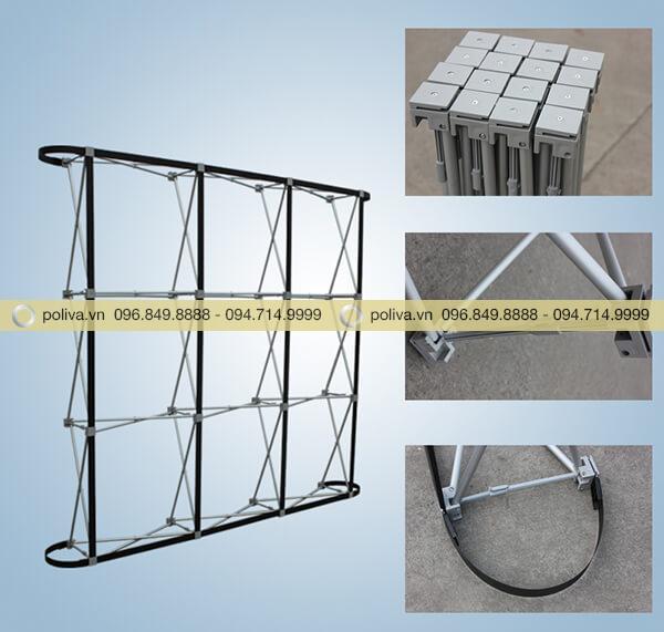 Khung backdrop tháo rời dễ dàng, thuận tiện cho vận chuyển và bảo quản