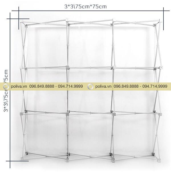 Kích thước khung dựng backdrop loại ô 3*3