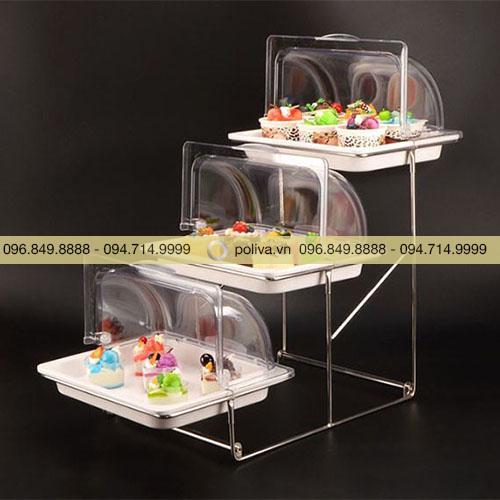 Giá trưng bày buffet 3 tầng