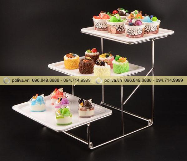 Khay buffet 3 tầng
