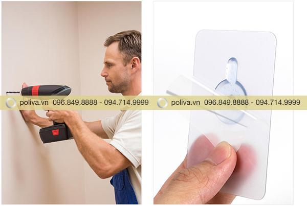 Hộp đựng nước rửa tay bằng nhựa có thể dễ dàng gắn lên tường