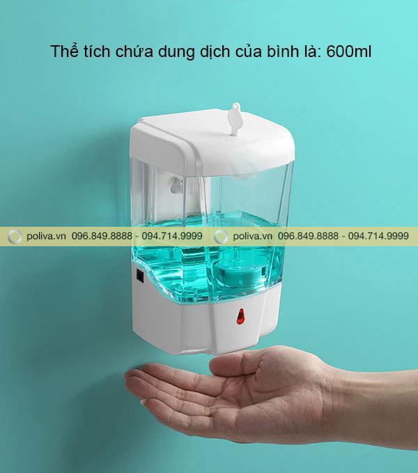 Hộp đựng nước rửa tay có cảm ứng rất nhạy
