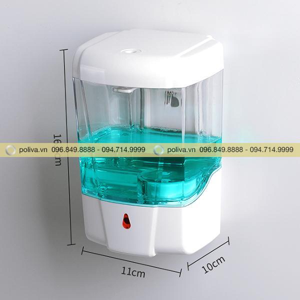 Kích cỡ của hộp đựng nước rửa tay gắn tường