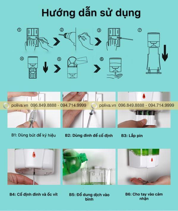 Hình ảnh minh họa toàn bộ các bước lắp đặt và sử dụng sản phẩm