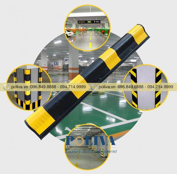 Ốp góc tròn bằng cao su được sử dụng phổ biến