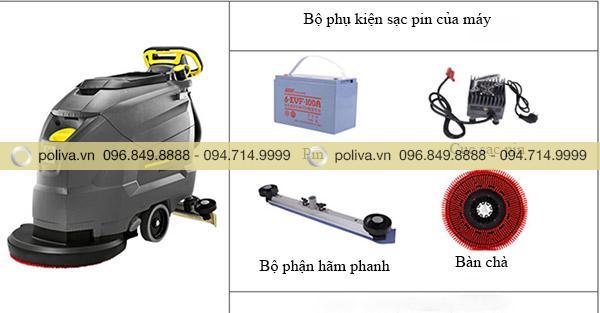 Bộ dụng cụ sạc pin của máy chà sàn công nghiệp