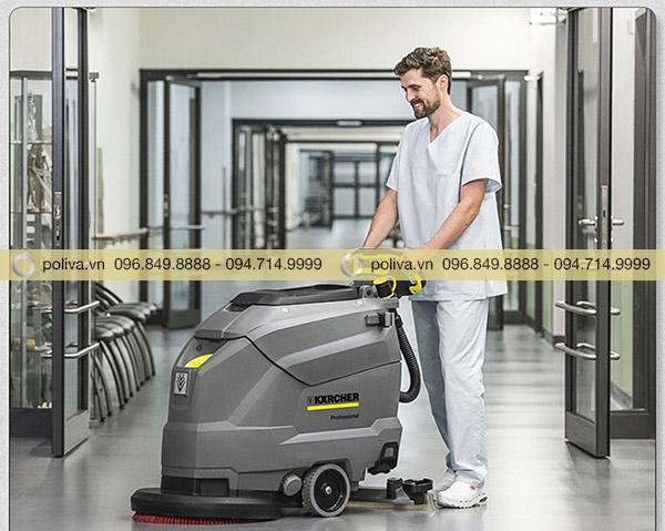 Máy làm sạch nhanh và hiệu quả mà không gây tiếng ồn