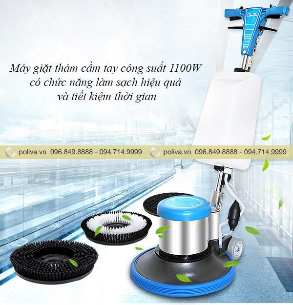 Máy giặt thảm cầm tay đáp ứng nhu cầu làm sạch nhanh chóng và hiệu quả