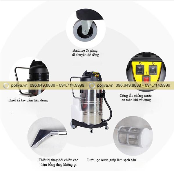 Phụ kiện máy được thiết kế đảm bảo tính năng xuất và an toàn cho người sử dụng