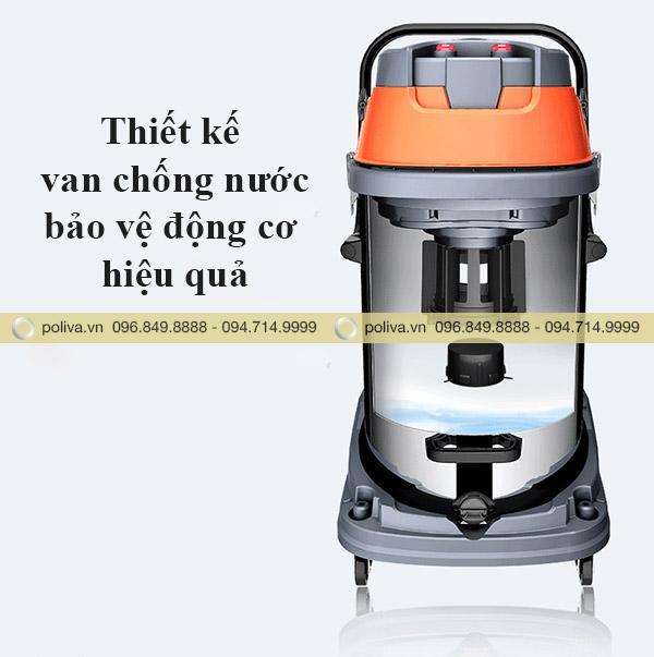 Máy hút bụi có van chống nước an toàn khi sử dụng