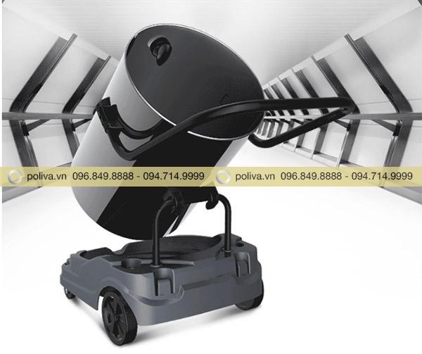 Kiểu dáng máy hút bụi công nghiệp công suất lớn được thiết kế gọn gàng giúp việc di chuyển dễ hơn