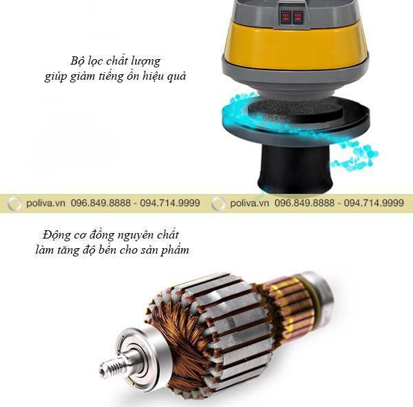 Động cơ đồng nguyên chất giúp đảm bảo tuổi thọ máy