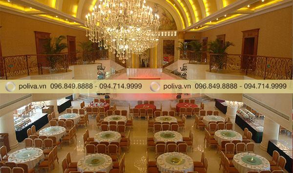 Poliva chuyên phân phối mâm xoay mặt kính cho nhà hàng, khách sạn