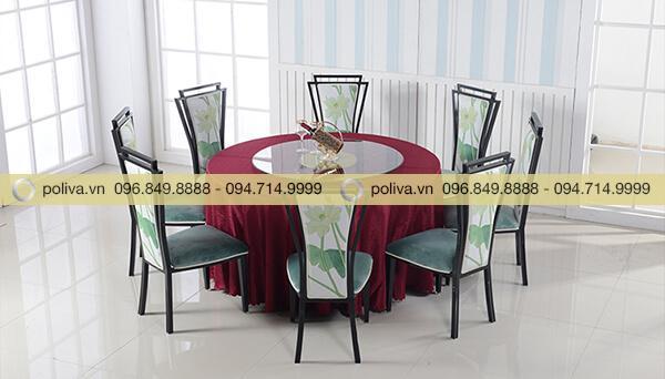 Mâm xoay bàn ăn phù hợp với nhiều loại bàn ghế khác nhau