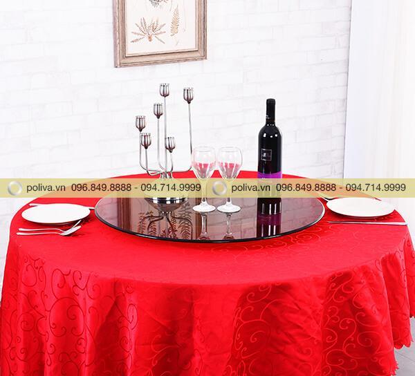 Mâm xoay kính bàn tiệc sang trọng