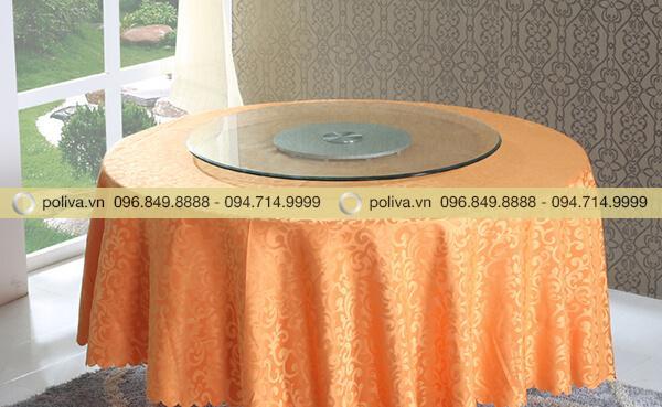 Kích thước và kiểu dáng phù hợp với bàn tròn nhà hàng khách sạn