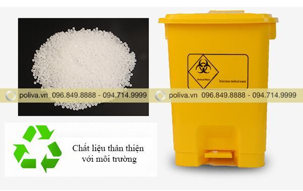 Chất liệu nhựa HDPE cao cấp, an toàn và thân thiện với môi trường
