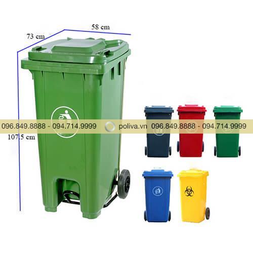 Thùng rác nhựa 120 lít composite