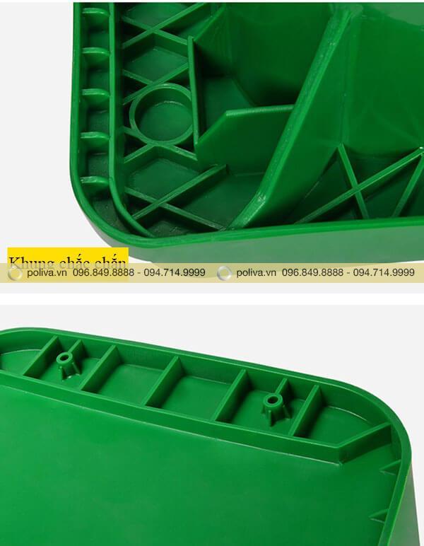 Thiết kế khung thùng đựng rác nhựa chắc chắn