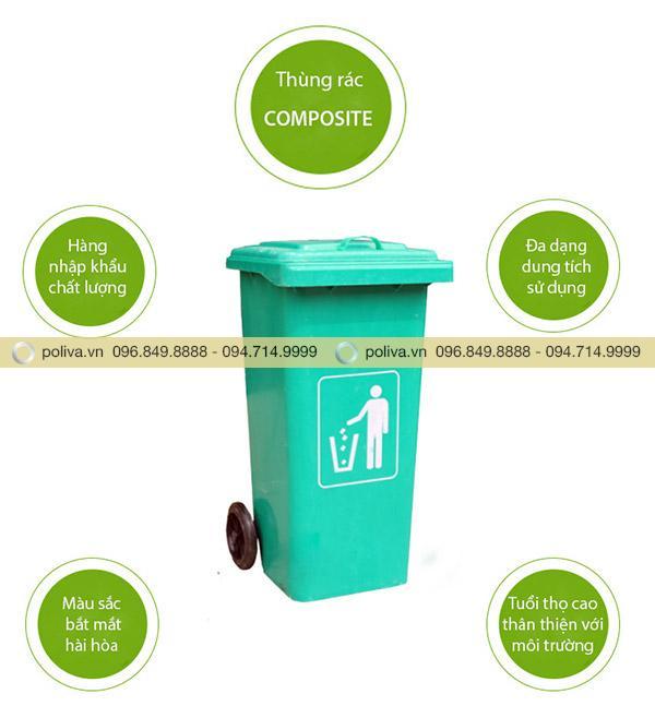 Chất liệu thùng rác từ nhựa composite - nhựa sợi thủy tin cứng bền và an toàn với người sử dụng