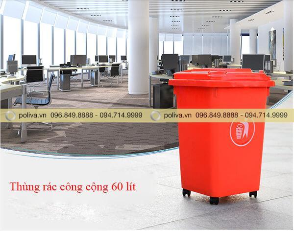 Thùng rác 60l