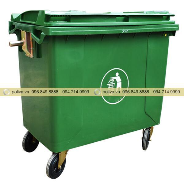 Thùng rác công nghiệp 660l góp phần bảo vệ môi trường xanh - sạch - đẹp hơn