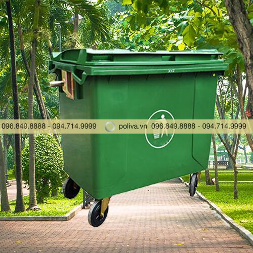 Thùng rác công nghiệp 660l