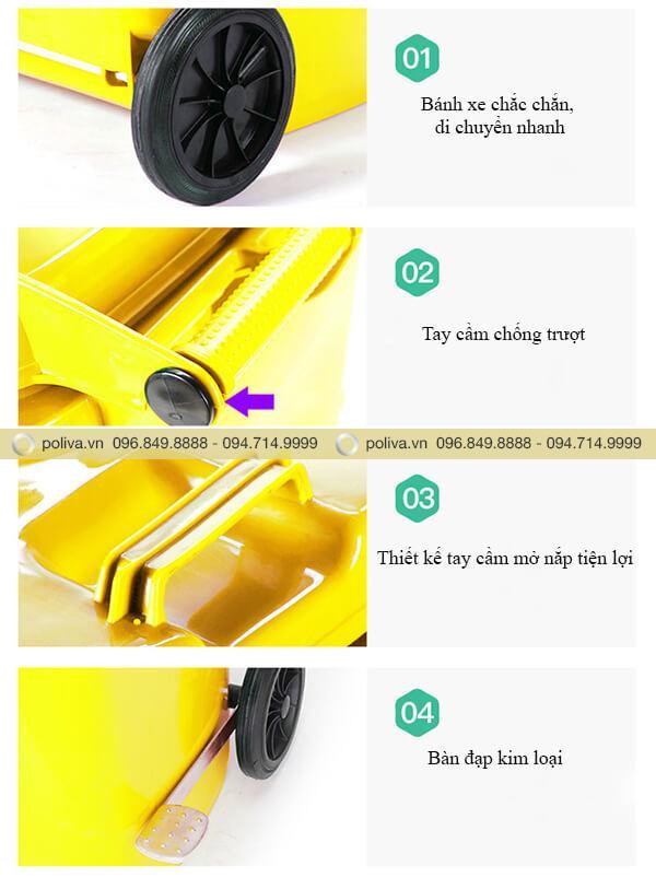 Cấu tạo trục, bánh xe linh hoạt