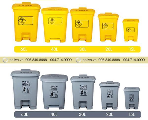 Poliva chuyên cung cấp các loại thùng rác y tế đa dạng mẫu mã, kích thước, màu sắc