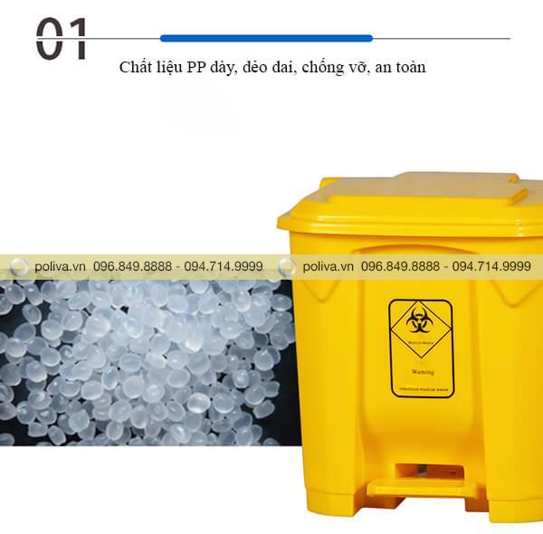 Chất liệu nhựa PP an toàn, thân thiện với môi trường