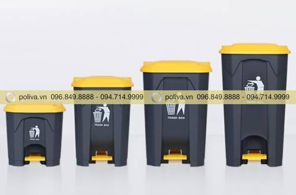 Thùng rác y tế có nhiều kích thước khác nhau