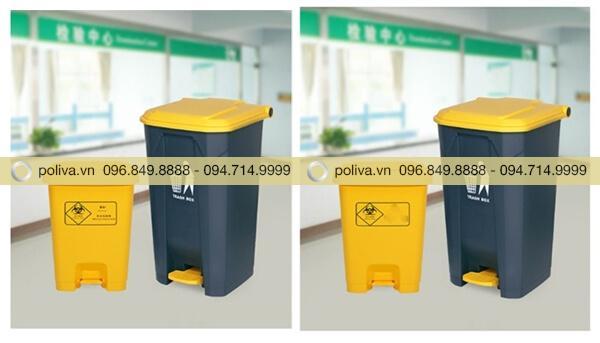 Dung tích thùng rác y tế khác nhau phù hợp với các vị trí sử dụng
