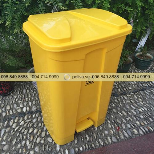 Thùng rác y tế màu vàng 80 lít
