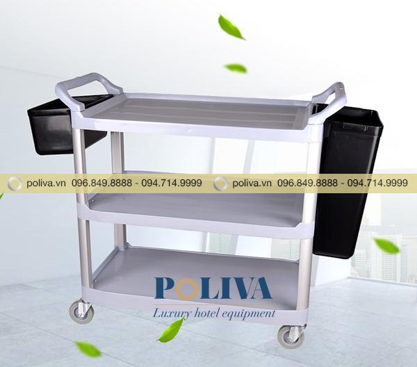 Xe đẩy thức ăn bằng nhựa chất lượng cao được sử dụng phổ biến hiện nay