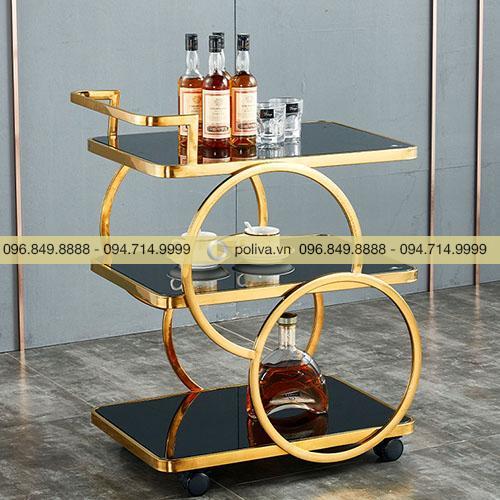 Xe phục vụ rượu 3 tầng