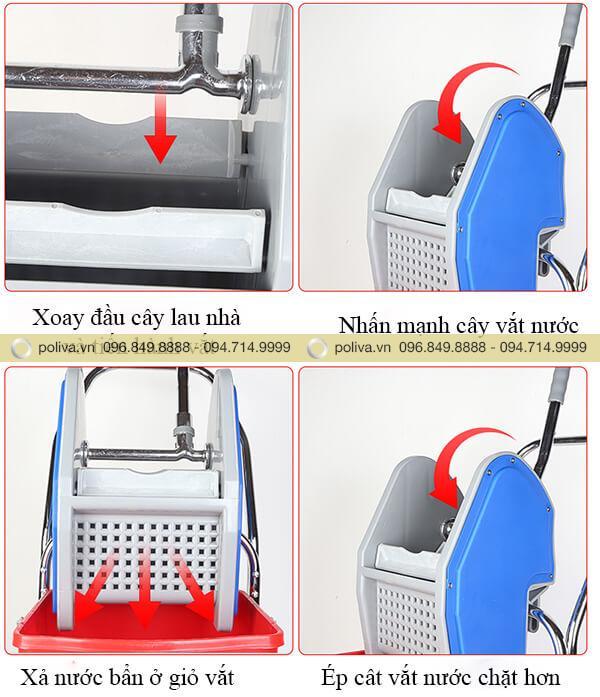 Cách sử dụng xe vắt móp nhập khẩu