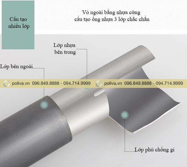Cấu tạo ống thân xe dọn vệ sinh