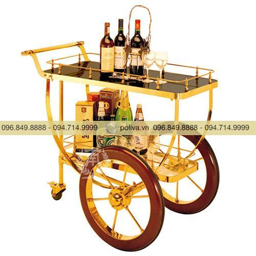 Xe phục vụ rượu khung Inox