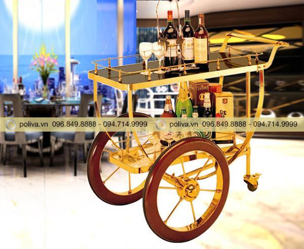 Xe phục vụ rượu khung Inox có nhiều ưu điểm nổi trội