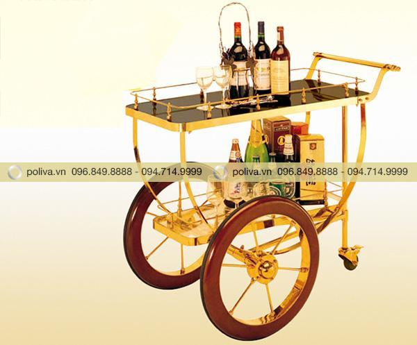 Hình ảnh xe phục vụ rượu khung inox