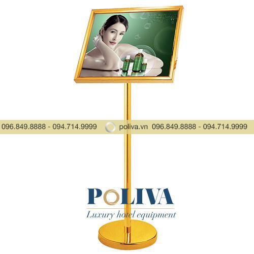 Bảng menu bằng Inox màu trắng, vàng